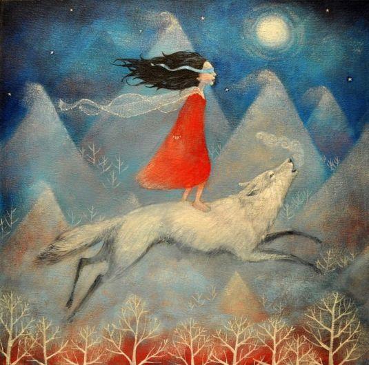 mujer-salvaje-con-lobo
